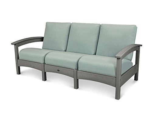 (POLYWOOD TXC71SS-5413 Deep Seating Sofa, Stepping Stone/Spa)