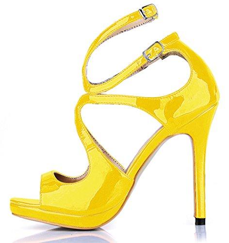 Roja Femenino De Sandalias Yellow Heel Noche Vestido Shoes Verano Nuevos Temperamento Pearl Cinta Vino La Zapatos Productos Alta fw1pw7