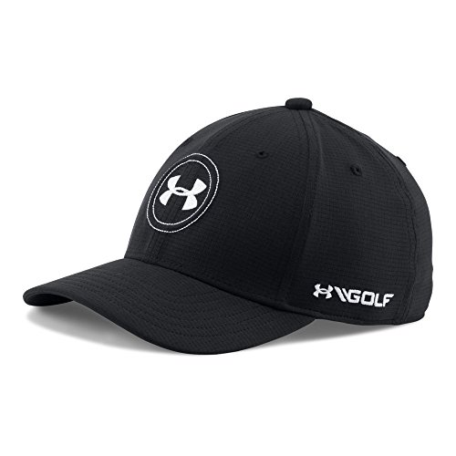 Cap Youth Logo (Under Armour Boys' Golf Official Tour Cap, Black/White, Youth Small/Medium)