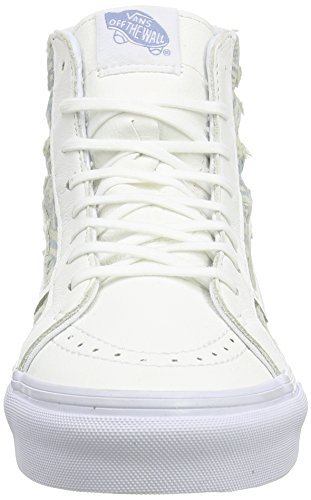 Vans Sk8-Hi Slim, Sneakers Hautes Mixte Adulte Blanc (Frayed Native/True White)