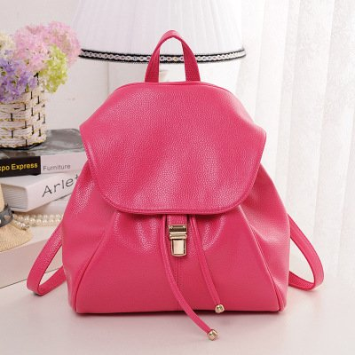 Genuine leather shoulder bag Korean wave of female college student fashion leisure travel bags backpack priced at wholesale