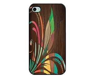 Wood Grain Flower IPhone Case - IPhone 4s Case - IPhone 4 Case
