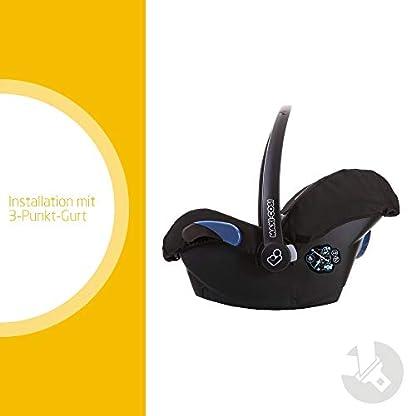 Maxi-Cosi Citi Babyschale, federleichter Baby-Autositz Gruppe 0+ (0-13 kg), nutzbar ab der Geburt bis ca. 12 Monate, Black Raven (schwarz) 2