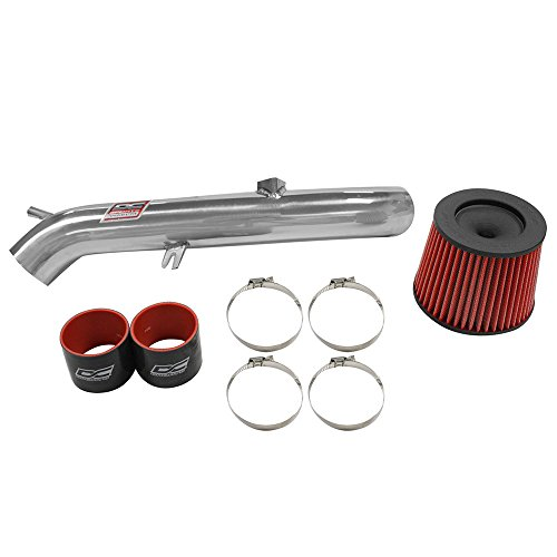 DC Sports SRI4201 CARB Compliant 2003-07 Infiniti G35 Performance Short Ram Air Intake System Bolt-On Kit in Powder Coat Silver - Fits Square MAF Intakes Only