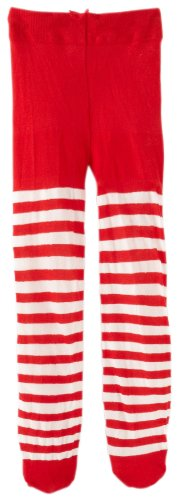 Jefferies Socks Baby Girls' Stripe Tights, Red/White, 18 24 Months -
