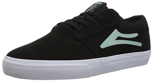 Lakai Mens Skateboard Shoe - Lakai Men's Griffin Skate Shoe, Black/Mint Suede, 11 M US