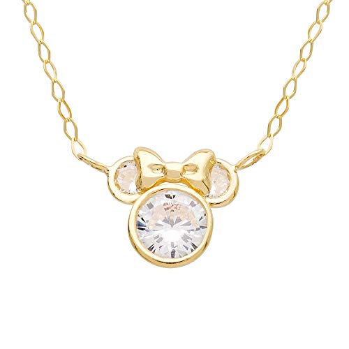 Disney Minnie Mouse 14K Gold Necklace (Necklace Disney Gold)