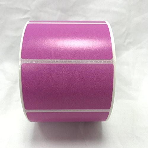 4 Rolls 2.25 x 1.25 Direct Thermal Labels PURPLE 1000 Labels Per Roll Zebra / Eltron Printer Compatible 1