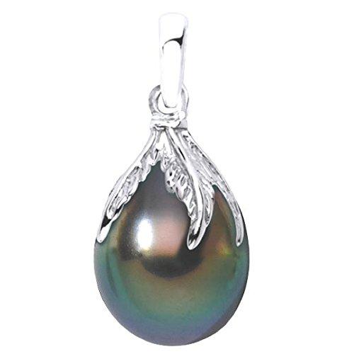 MIKI - Pendentif Perle de Tahiti - Or 18 carat - Diamètre de la perle: 10 à 11 mm - www.diamants-perles.com