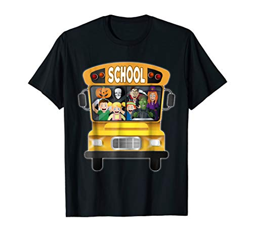 Funny School Bus T-Shirt Halloween Costume Adults and Kids