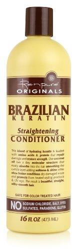 Renpure Originals Brazilian Keratin Straightening Conditioner, 16 Ounce (Pack of 2)