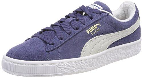 blue Azul Adulto Zapatillas Classic Indigo Unisex White Suede Puma puma UnWZvc