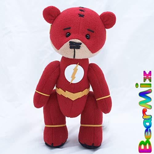 Flash bear TV Serial - dc superhero movie comic plush toy justice league Barry Allen