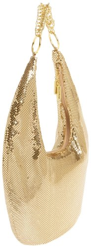 Davis Gold amp; Whiting Gold Chain Chunky Mesh Hobo tq54H