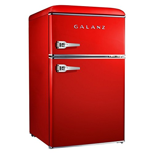 Galanz 3.1 cu ft Red Retro Mini Fridge, used for sale  Delivered anywhere in USA