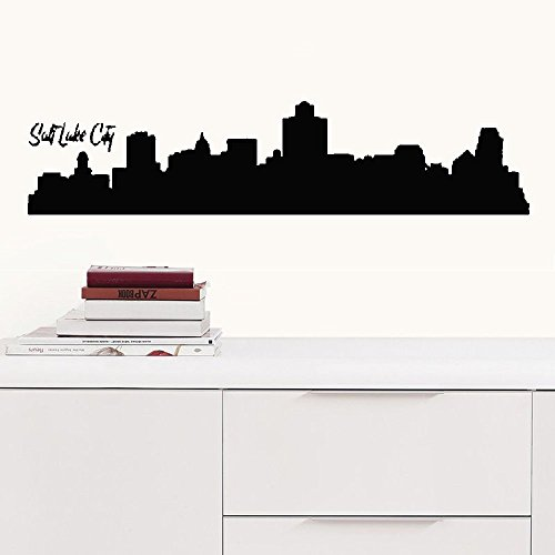 Halloween Salt Lake City (faleio Wall Stickers Decals Art Words Sayings Removable Lettering Salt Lake City Skyline Sofa Background for livingroom Sofa Background for)