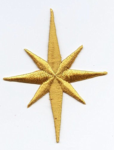 Large - Nativity Star - Yellow - Iron on Applique/Embroidered Patch