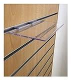 Clear Slatwall Shelves 4 Inch x 10 Inch Set of 4