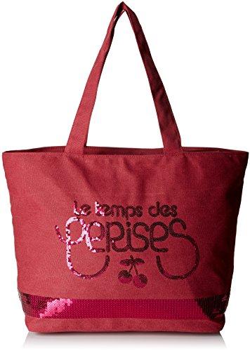 Rojo 5 Totes Bolsos Le Mujer Cerises rouge Glitter Des Temps Zgq8IHF