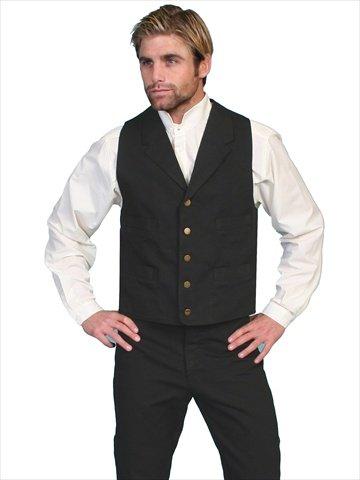 Scully Rangewear Men's Rangewear Frontier Canvas Vest Black Medium ()