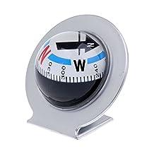 MonkeyJack Flexible Automotive Car Auto Windshield Dashboard Compass Ball Dash Mount Navigation with Adhesive