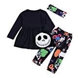 iOPQO Halloween Rompers for Kids, Infant Baby Girl Boys Letter Tops+Pants Set
