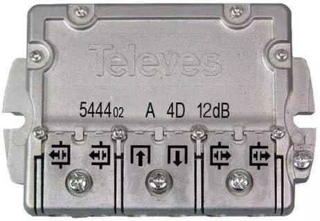 Televes 544402 - Derivador ict ta 4 direcciónes 12db