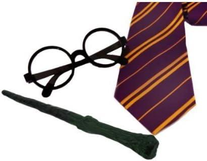 2 juegos de accesorios para disfraz de mago (corbata + gafas + ...