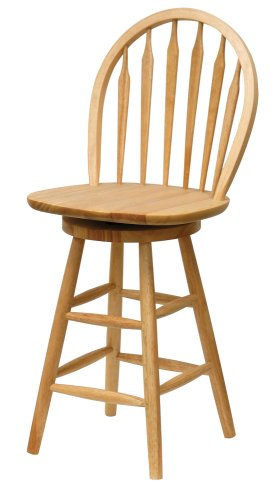 Back Wood Seat Stool (Wagner Arrow-Back Counter Stool with Swivel Seat)