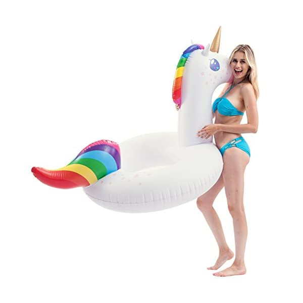 JOYIN Gorgeous Inflatable Unicorn Tube, Pool Float, Fun Beach Floaties, Swim Party Toys, Summer Pool Raft Lounge for… 5