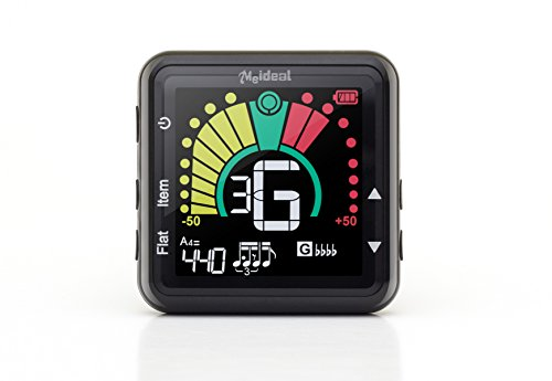 Clip-On Tuner by Avantelik. Tune Guitar, Bass, Ukulele, Violin and Banjo, Rechargeable
