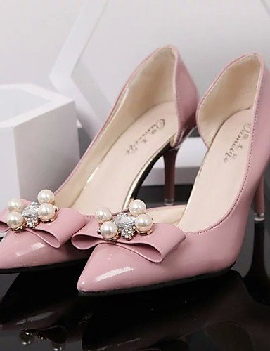 ShangYi Womens Shoes Leatherette Stiletto Heel Heels / Pointed Toe Heels Wedding / Office & Career / CasualBlack / Blue / Pink Red