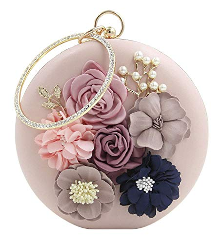 Decorated Cross - Onfashion Women's Floral Evening Bag Pearls Clutch Handbags Clutches Handbag