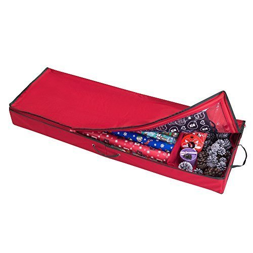 Elf Stor Premium Christmas Wrapping Paper, Ribbon and Bow Storage Organizer by Elf Stor