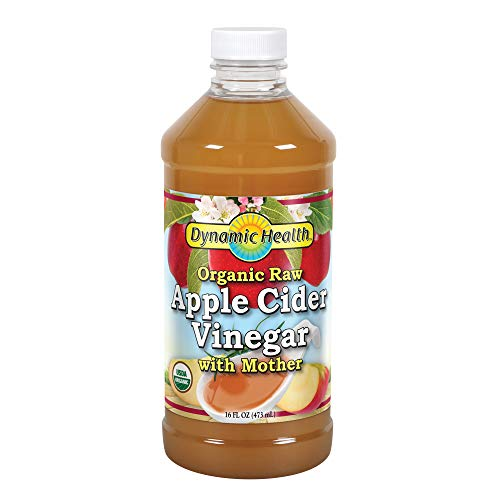 Dynamic Health Organic Cider Vinegar with Mother, Raw Apple, 16 oz (Apple Cider Vinegar And Honey Drink Recipe)
