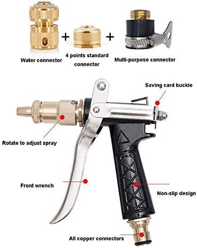 FXPT1201 Garden Hose,Car Wash Hose,Garden Outdoor Watering Hose Multifunction with Brass Connector/Spray Gun for Home Garden Car Washing (Size : 20m)