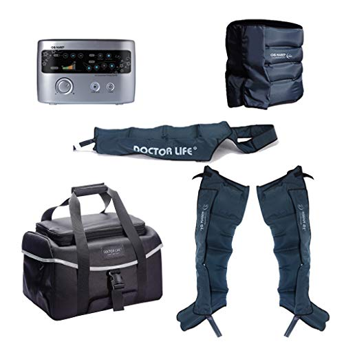 DSMAREF Recovery Compression System Full Package : Compression Pump, Recovery Boots, Arm Sleeve, Waist Sleeve, Carry Bag. (Boots Size : L)
