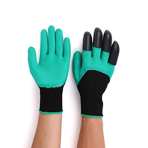 Garden Gloves Garden Tools 1 Pair Garden Digging Gloves With 4 Right Hand Fingertips Sharp+fork Claws Making Things Convenient For The People