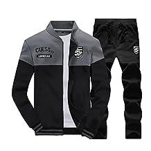 BCSY Mens Slim Fit Jogging Sweat Suits Casual Tracksuits + Pants