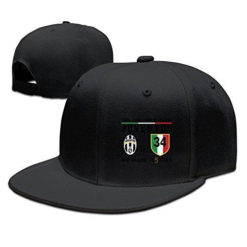 hmkolo-juventus-cotton-flat-bill-baseball-cap-snapback-hat-unisex-black