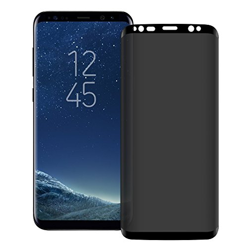 YCFlying 3D Galaxy S9 Plus Screen Protector Privacy[Upgrade Version] Anti-spy Tempered Glass Screen Film 9H Hardness Anti-Scratch Anti-Peep Shield for Samsung Galaxy S9 Plus/S9+ Black