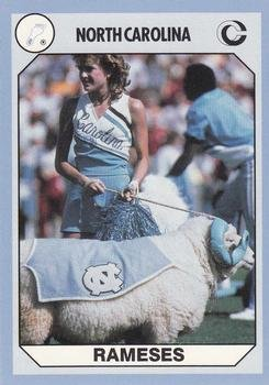 Tar Heels Mascot Ramses The Ram Football Card (North Carolina) 1990 Collegiate Collection ()