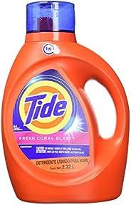 Tide Detergente Liquido para Ropa, Fresh Coral Blast, 64 Lavadas, 2.72 L