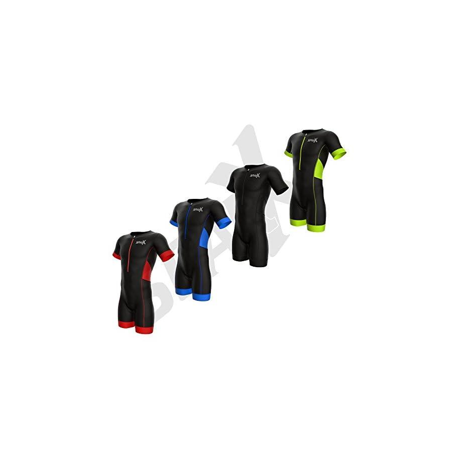 Sparx Men Elite Aero Short Sleeve Triathlon Suit Skinsuit Team Tri Suit Swim Bike Run