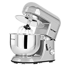 CHEFTRONIC Stand Mixers SM-986 120V/650W 5.5qt Bowl 6 Speed Kitchen Electric Mixer Machine (Silver Galaxy)