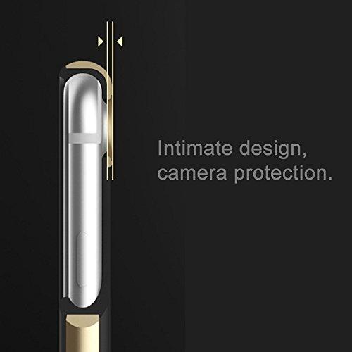 Mobile protection Para el iPhone 7 Caja de la contraportada de la PU de la textura de madera grabada en caliente ( Color : Gold ) Rose gold