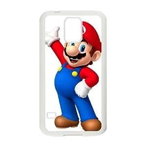 Samsung Galaxy S5 Cell Phone Case White_Super Smash Bros Mario_002 FY1462787