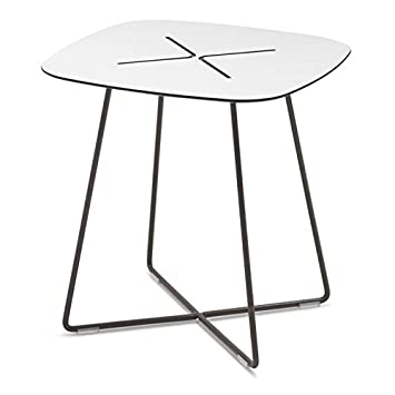 Domitalia Cross Square Low End Table in Anthracite