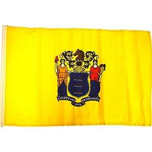 """FindingKing en un palo de bandera de Nueva Jersey 12""""X 18"""""""