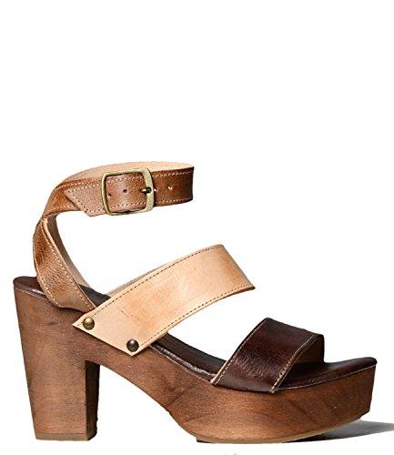 Bed|Stu Women's Sophie Heeled Sandal, Tan Sand Brown, 6.5 M US